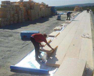 Hidroizolații cu membrana PVC – Hidroizolații terase și acoperis terasă Crama Budureasca